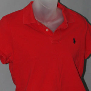 Skinny Polo, vintage Ralph Lauren, red crop polo,